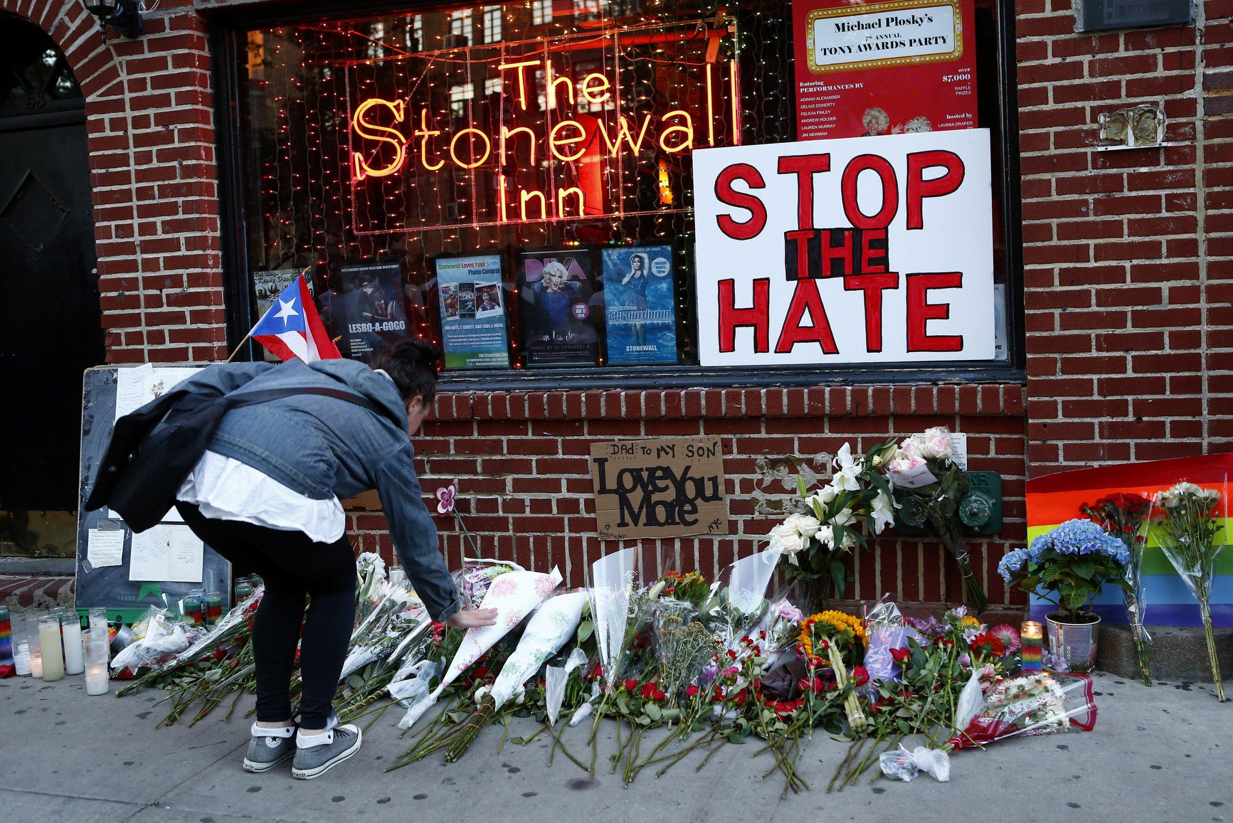 Orlando memorial at Stonewall Inn
