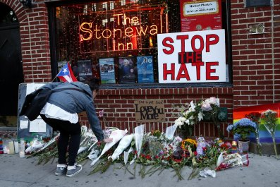 Orlando memorial at Stonewall Inn