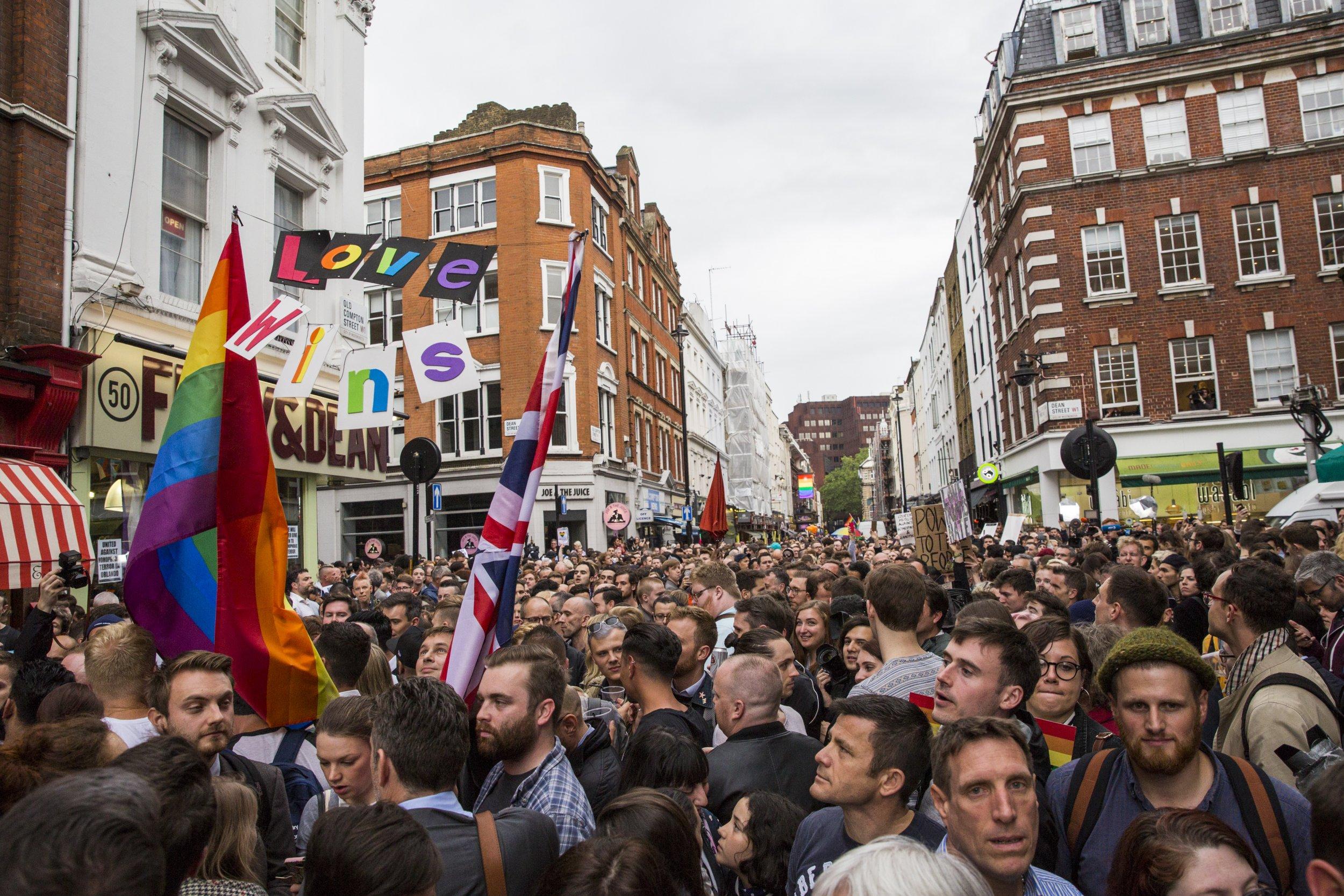 London's Orlando vigil in Old Compton Street