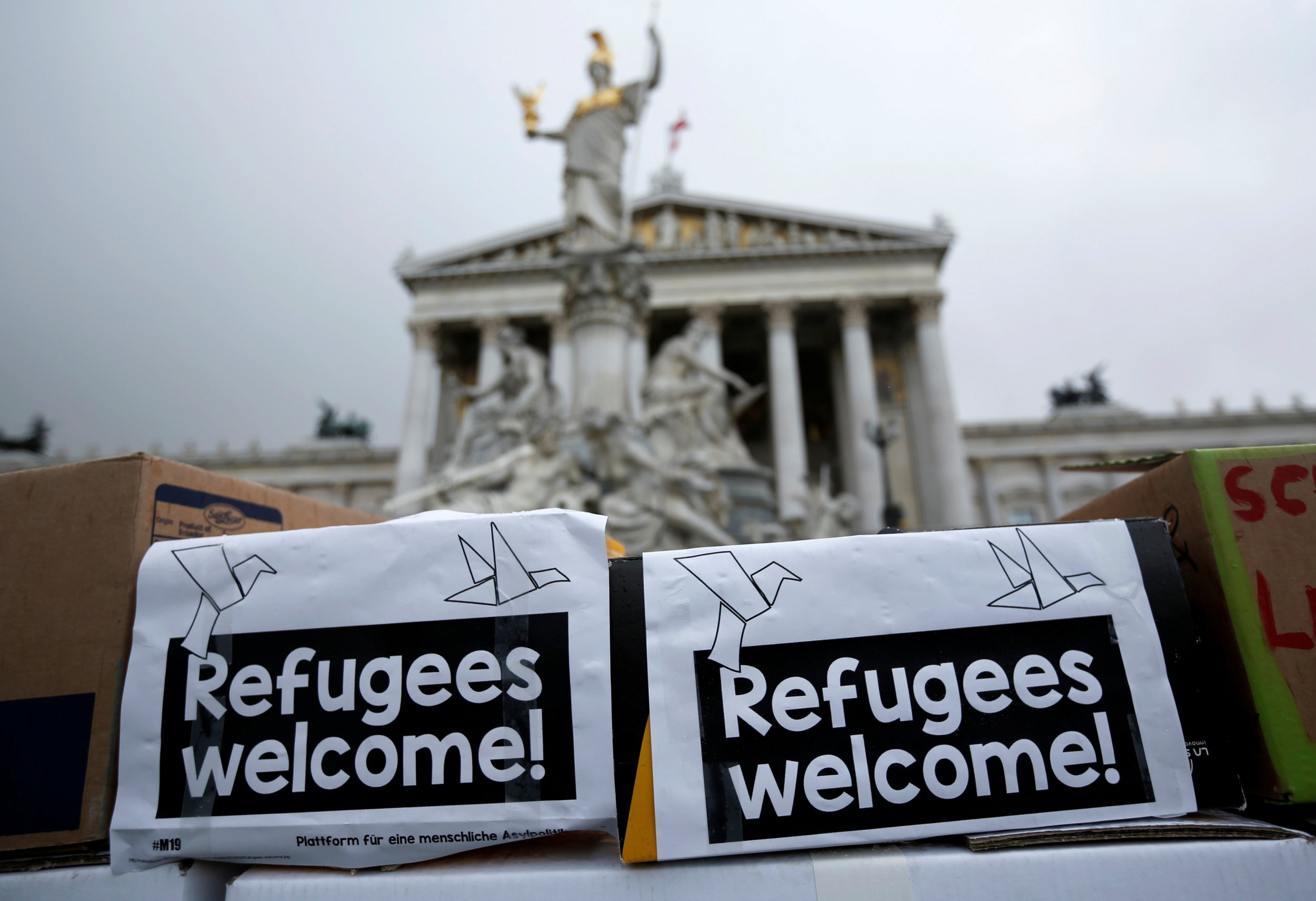 Vienna Refugees Protest