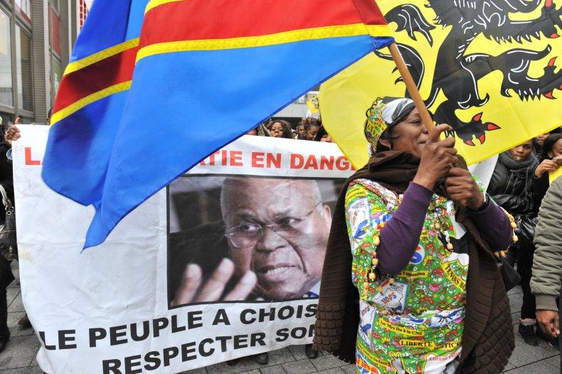 DRC demonstration in Belgium