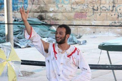 Palestinian Clown Mohammed Abu Saha