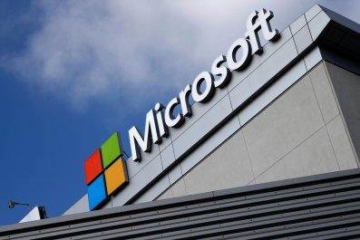 Microsoft logo in Los Angeles