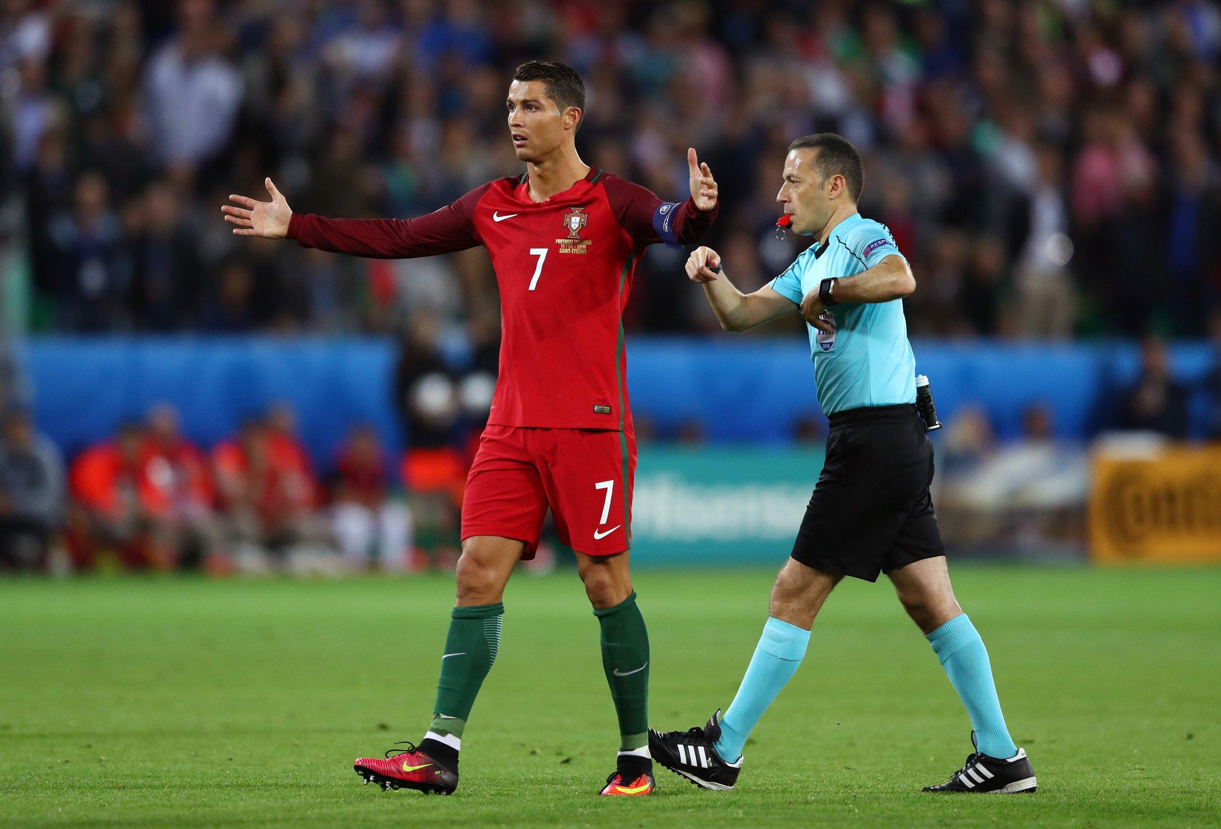 Portugal captain Cristiano Ronaldo, left.