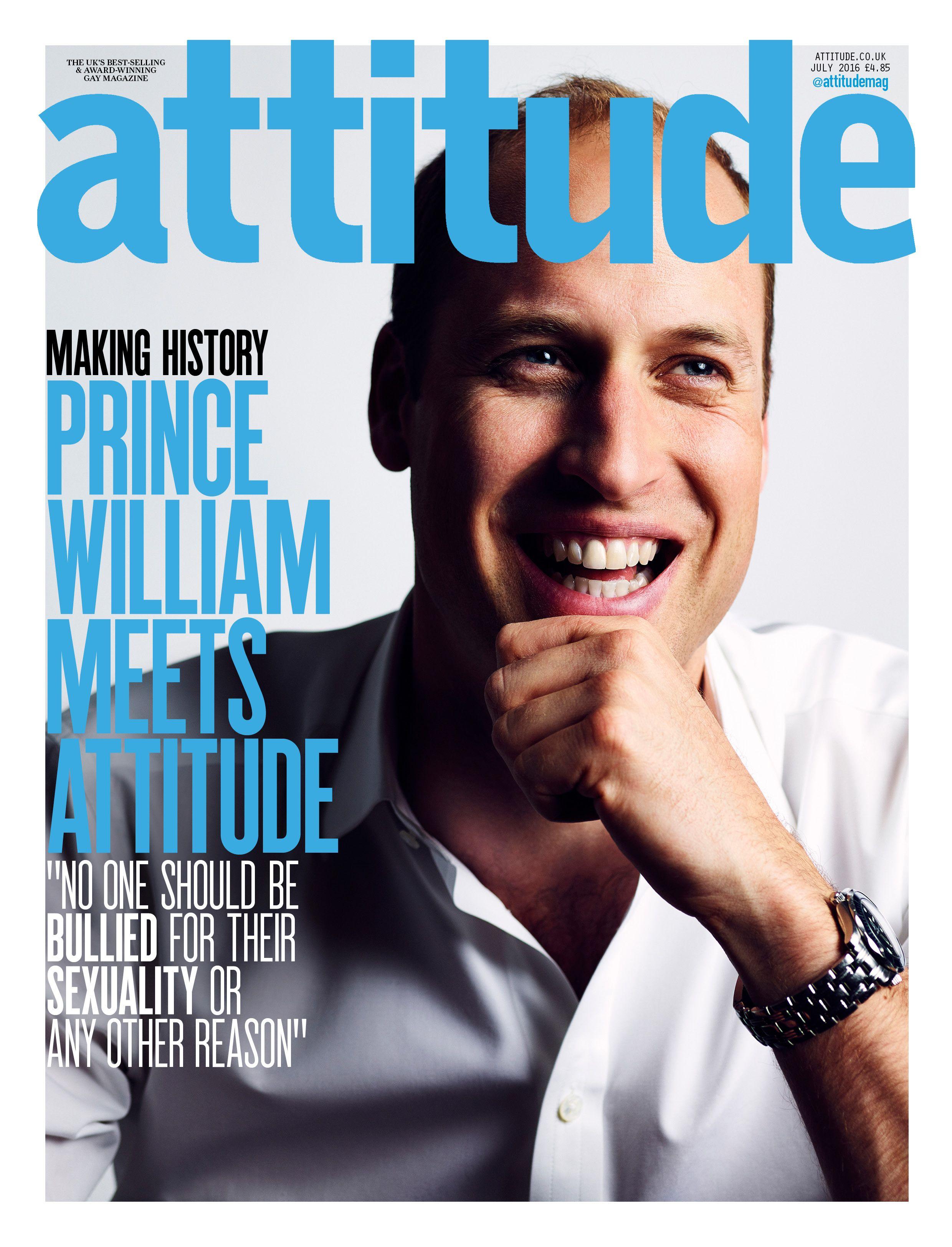 Prince William - Attitude magazine cover