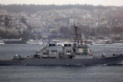 U.S navy missile destroyer