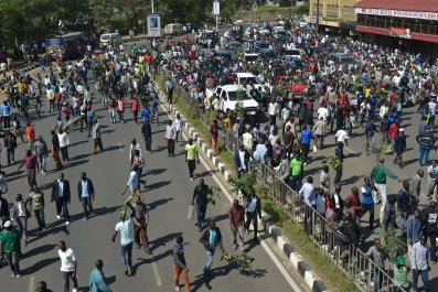 Kenya opposition protests.