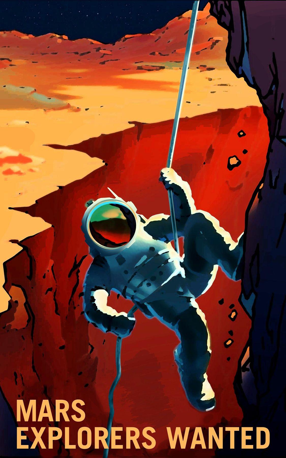 nasa mars exploration poster