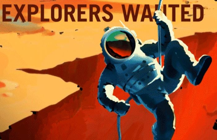 Nasa 39 s mars recruitment posters call for explorers for Free travel posters for teachers