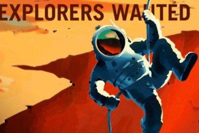 Mars explorers Nasa posters astronauts