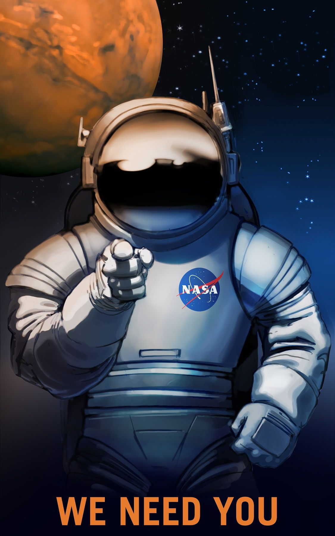 NASA poster Mars exploration