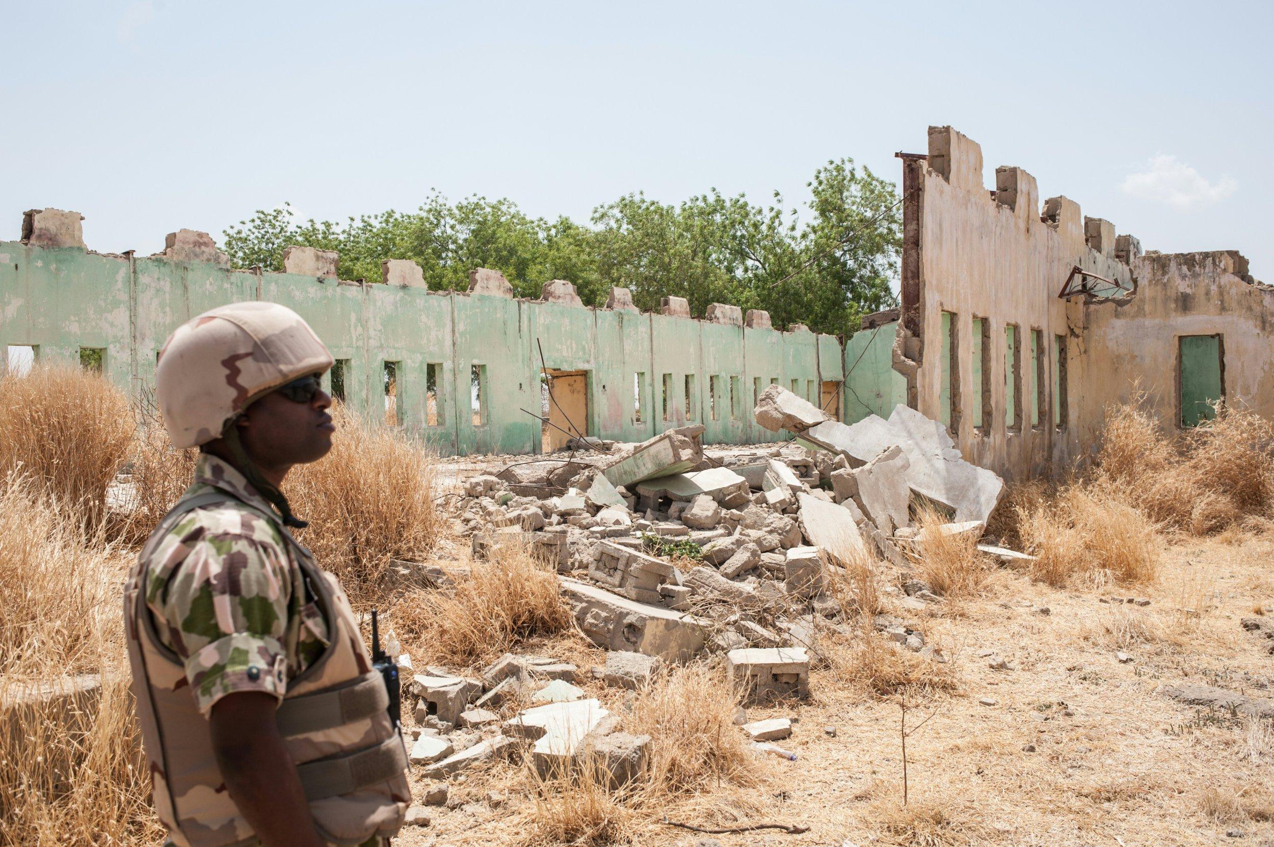 Nigerian soldier in Chibok