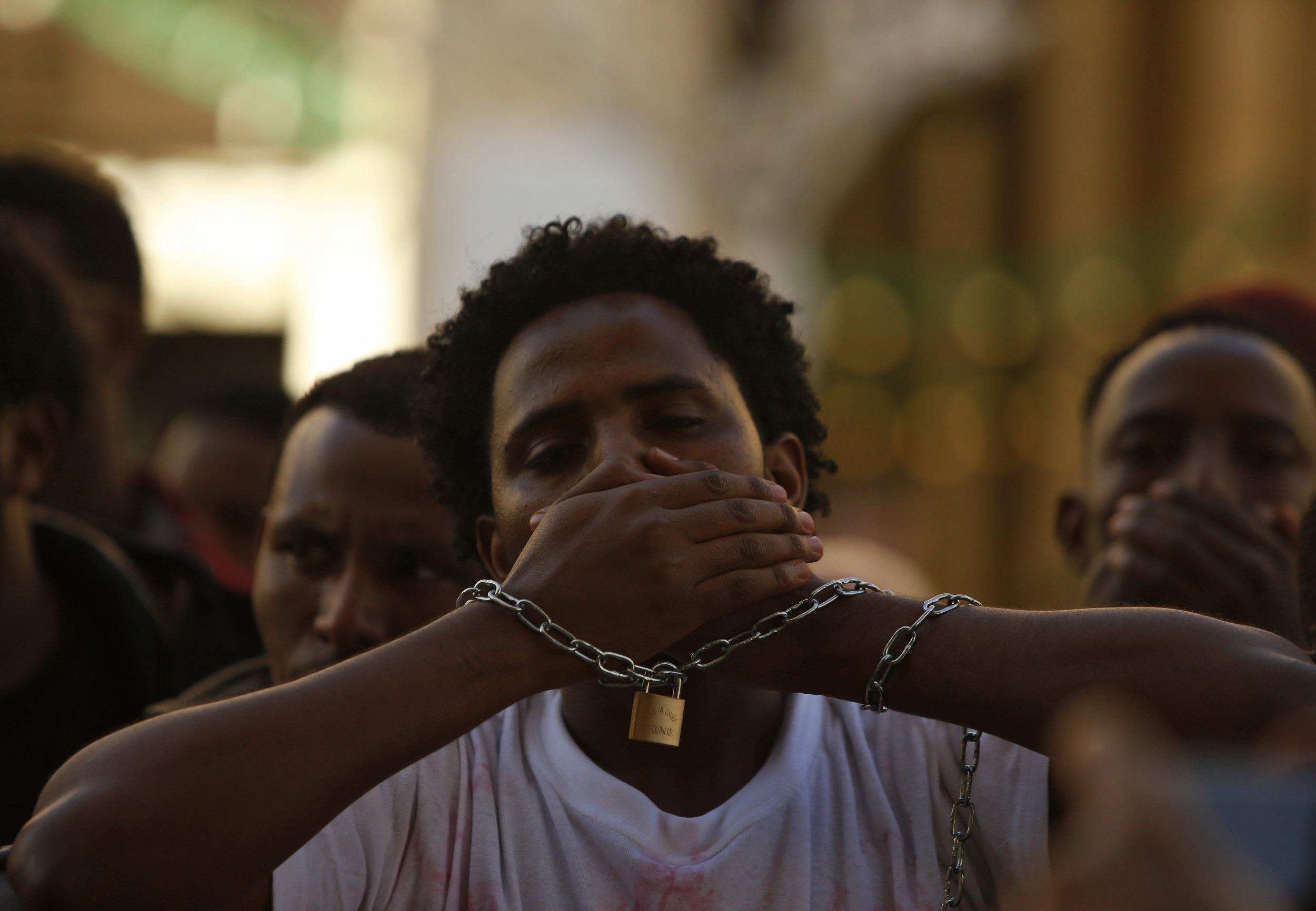 Oromo protesters in Malta.