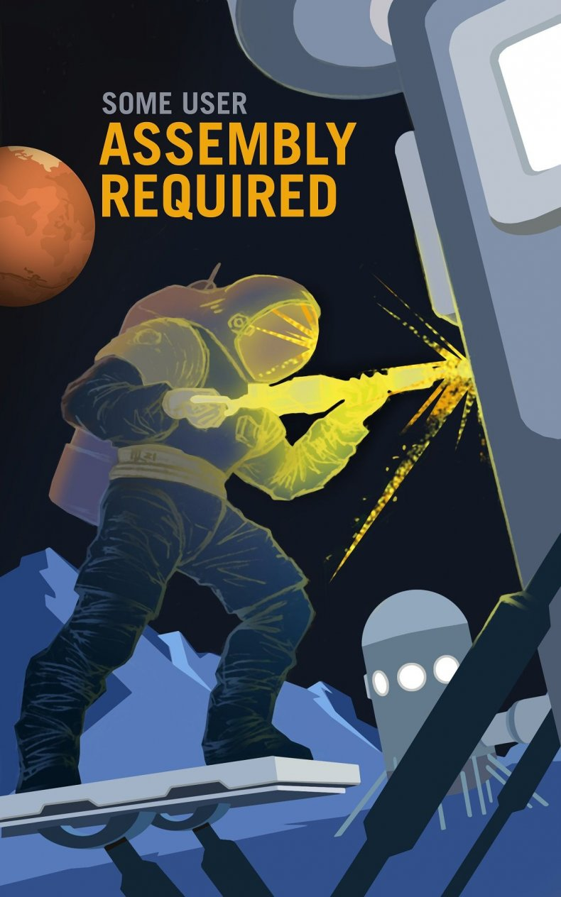 MARS NASA RECRUITMENT POSTER