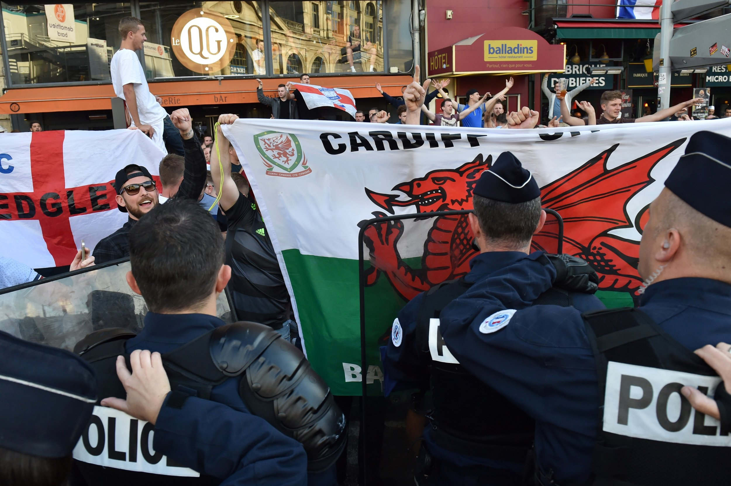 England and Wales fans in Lille