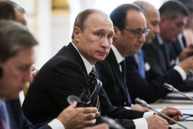 Vladimir Putin with EU Leaders