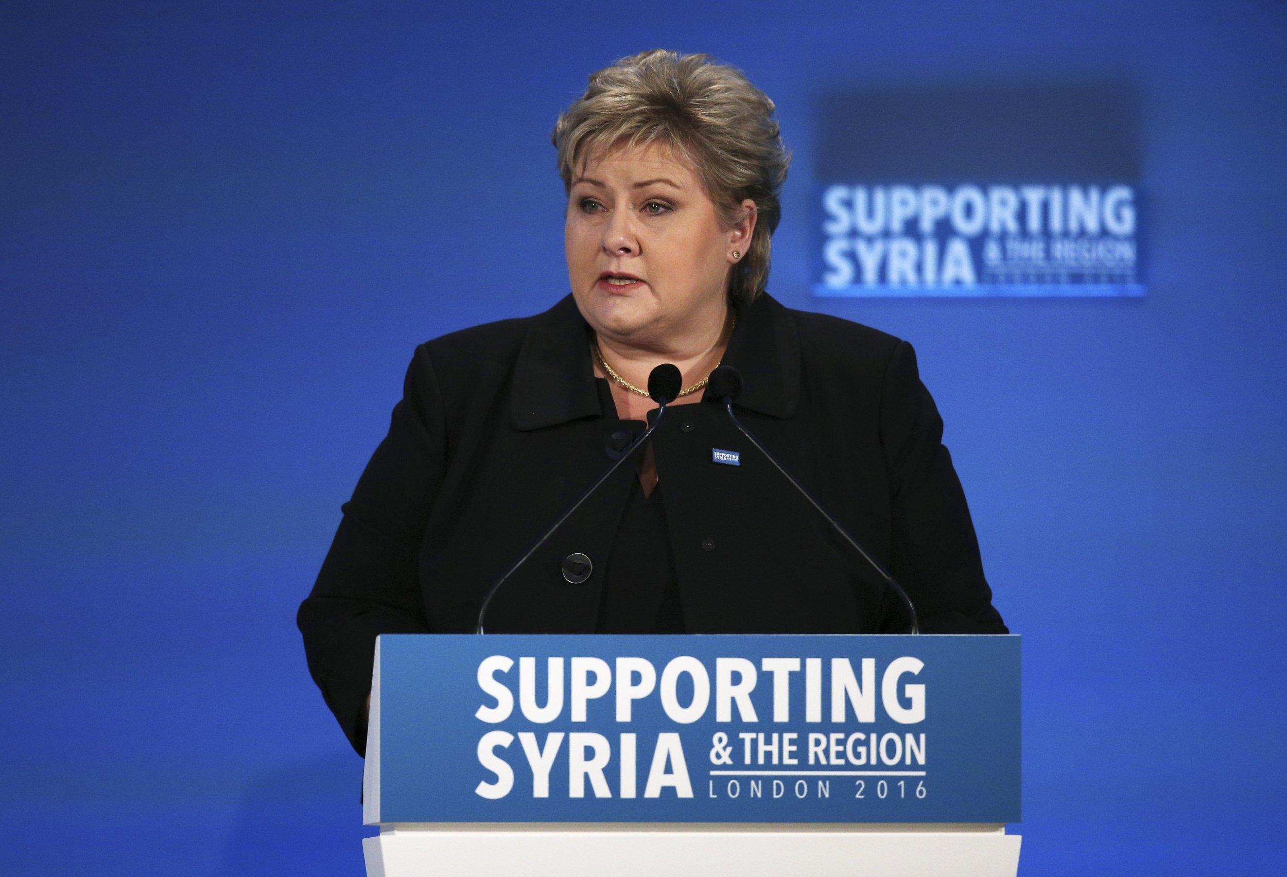 Norway Prime Minister Erna Solberg