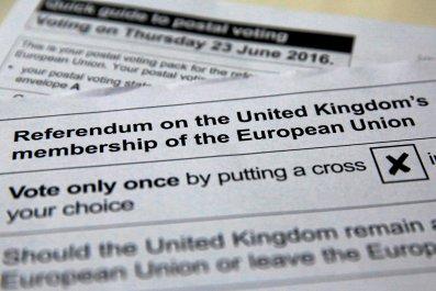 EU Referendum postal ballot paper