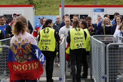 Russia fans at Euro 2016