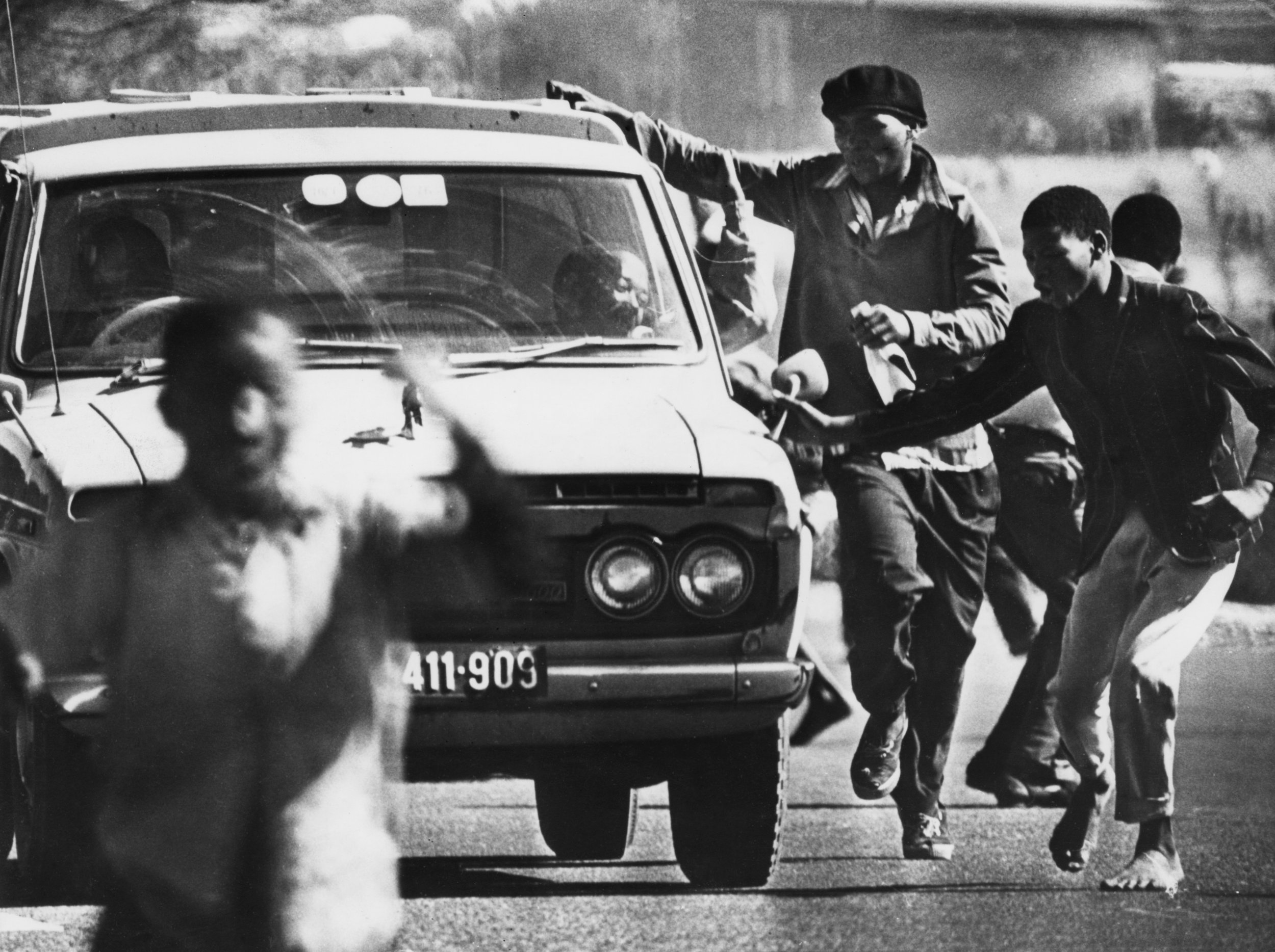 Protesters during Soweto Uprising.
