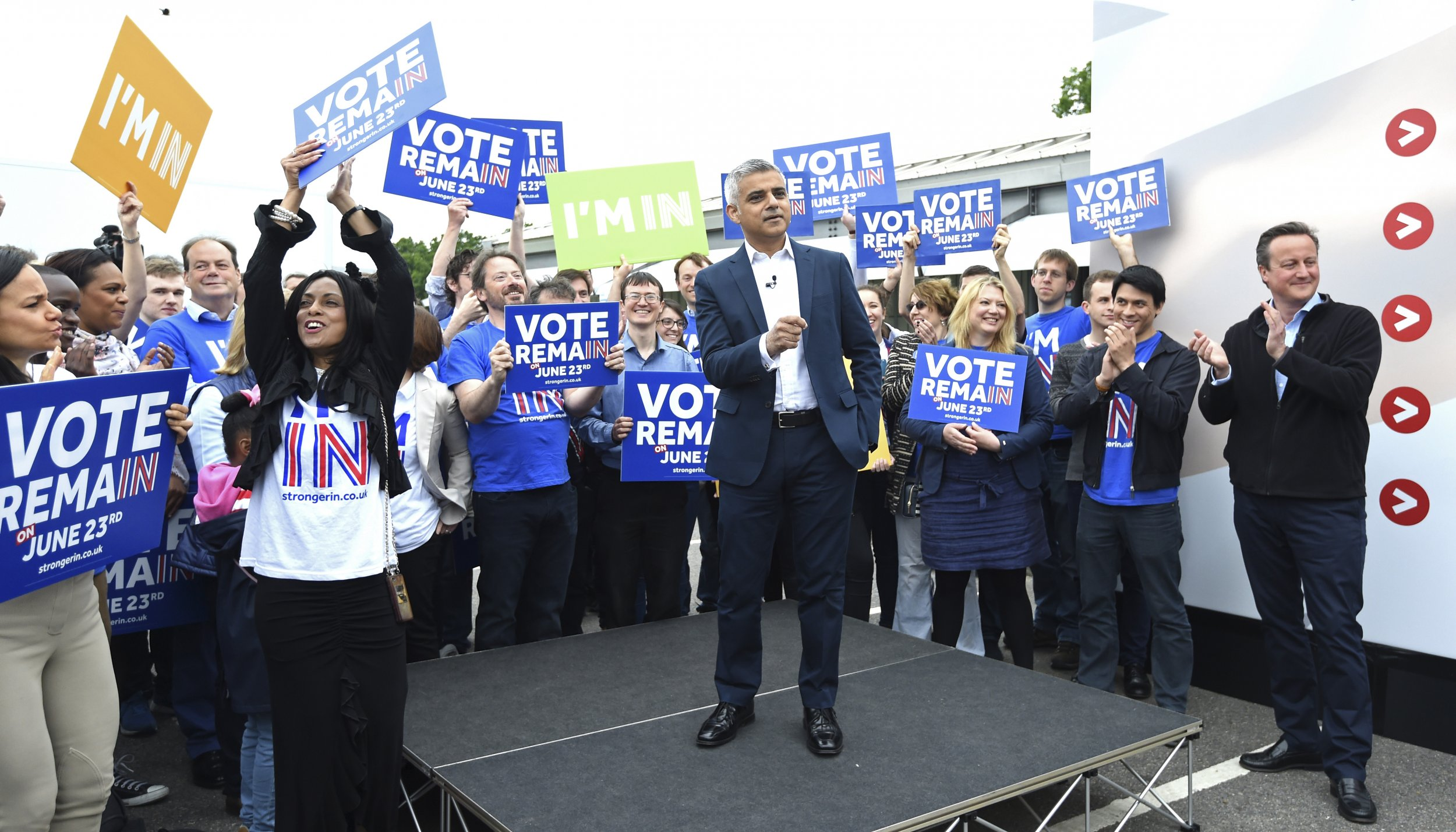 David Cameron and Sadiq Khan, Remain