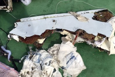 Recovered debris of EgyptAir MS804