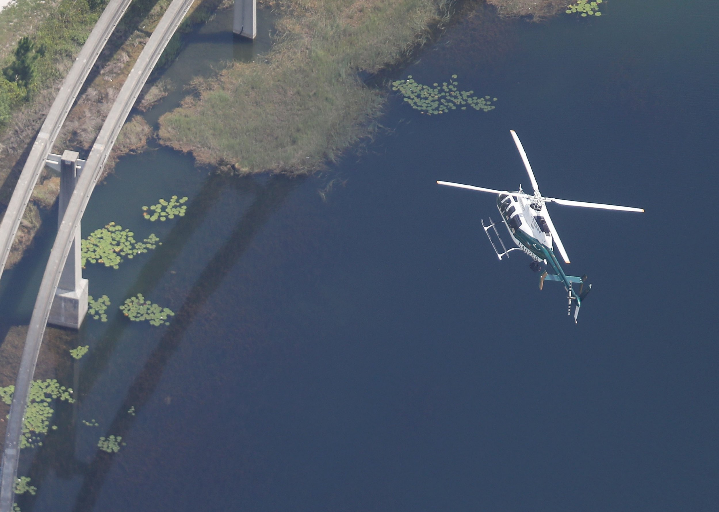 Disney helicopter searches for boy taken by alligator