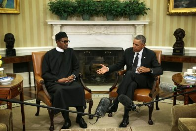 Nigeria's Buhari meets Obama at White House