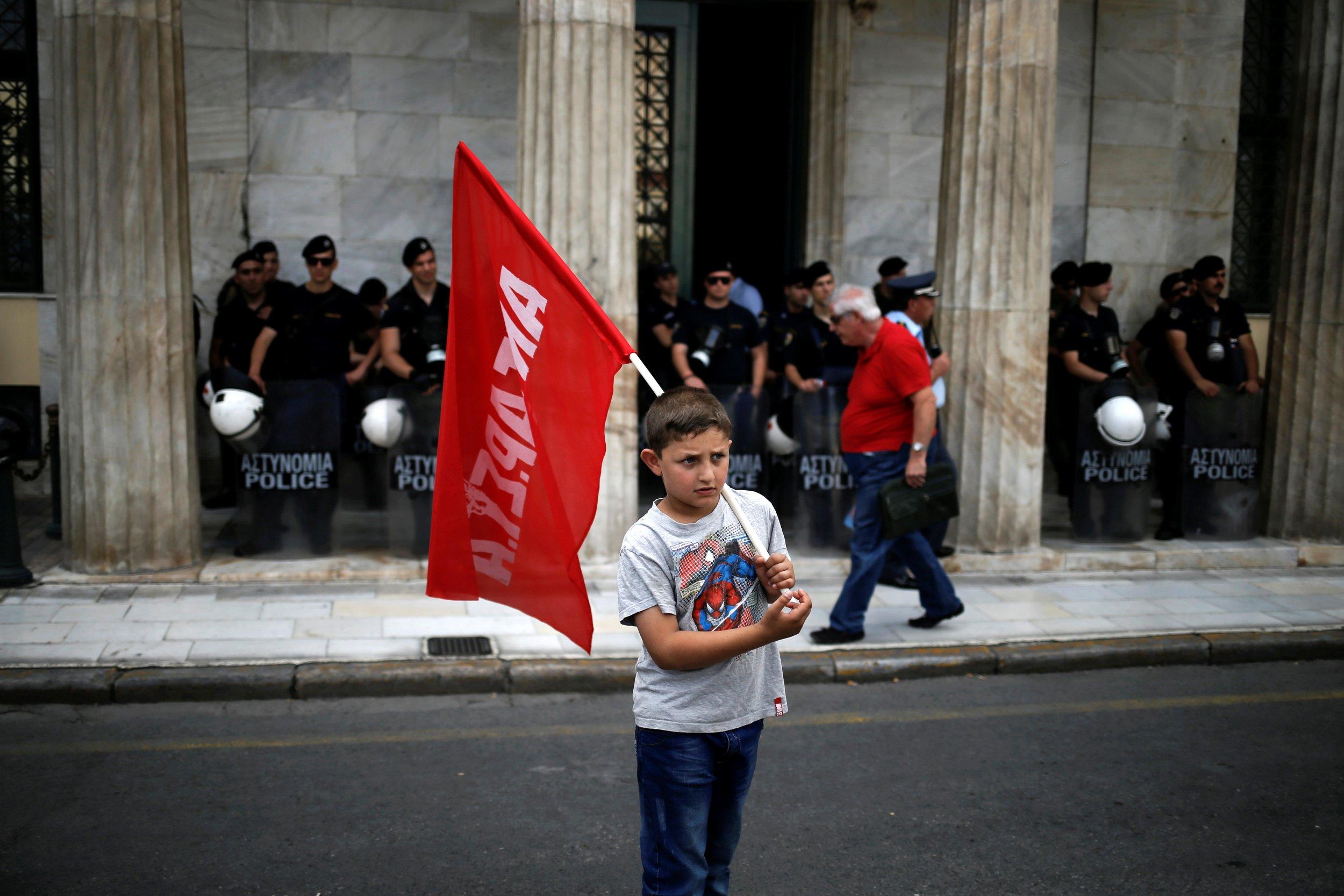 Refugee Protest Greece