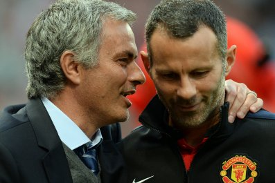 Jose Mourinho with Ryan Giggs