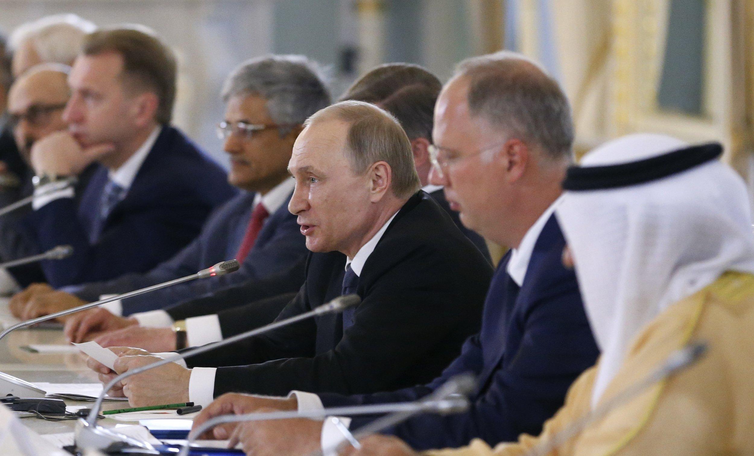 Putin at fund meeting