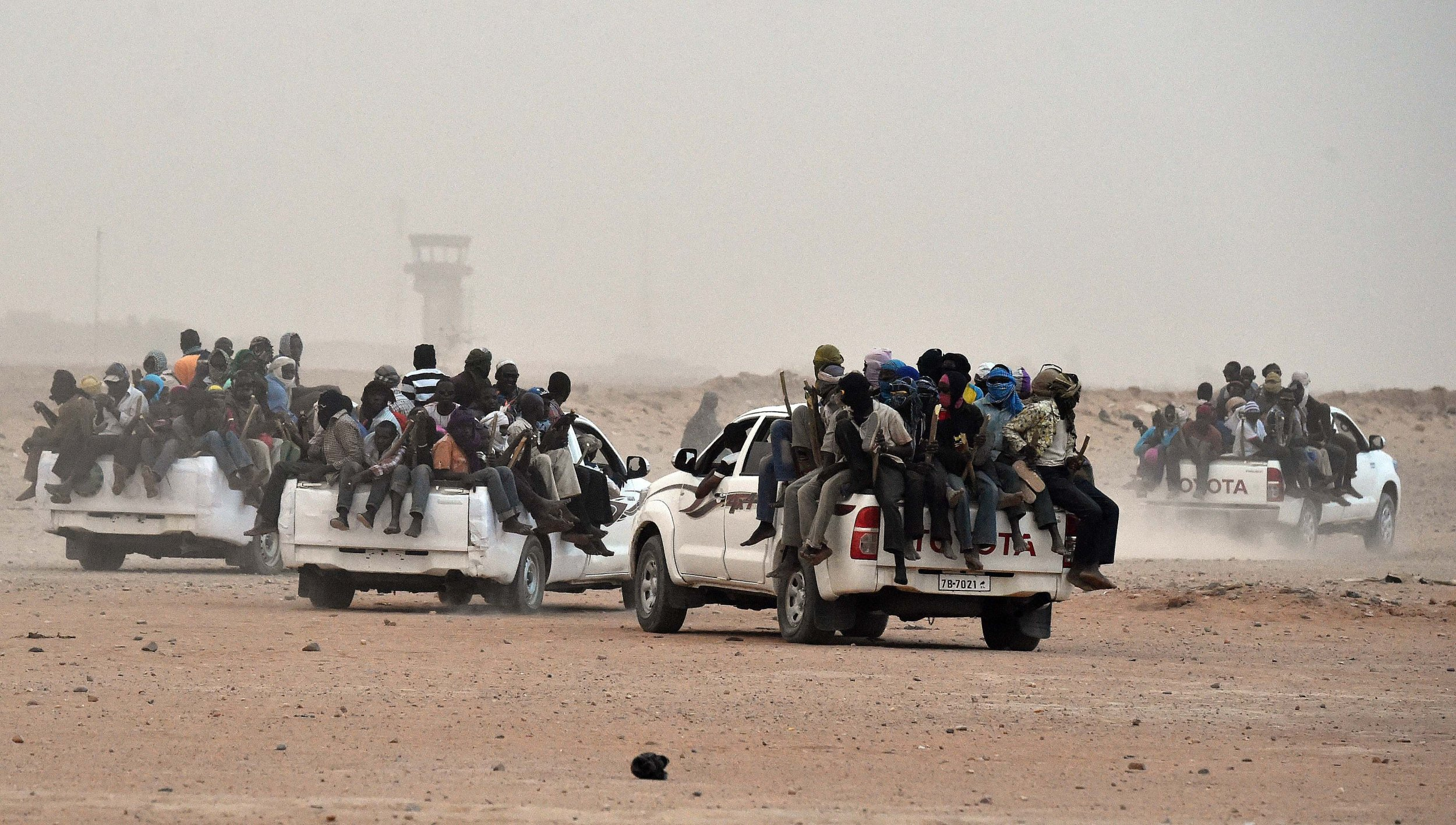 Agadez migrants en route to Libya