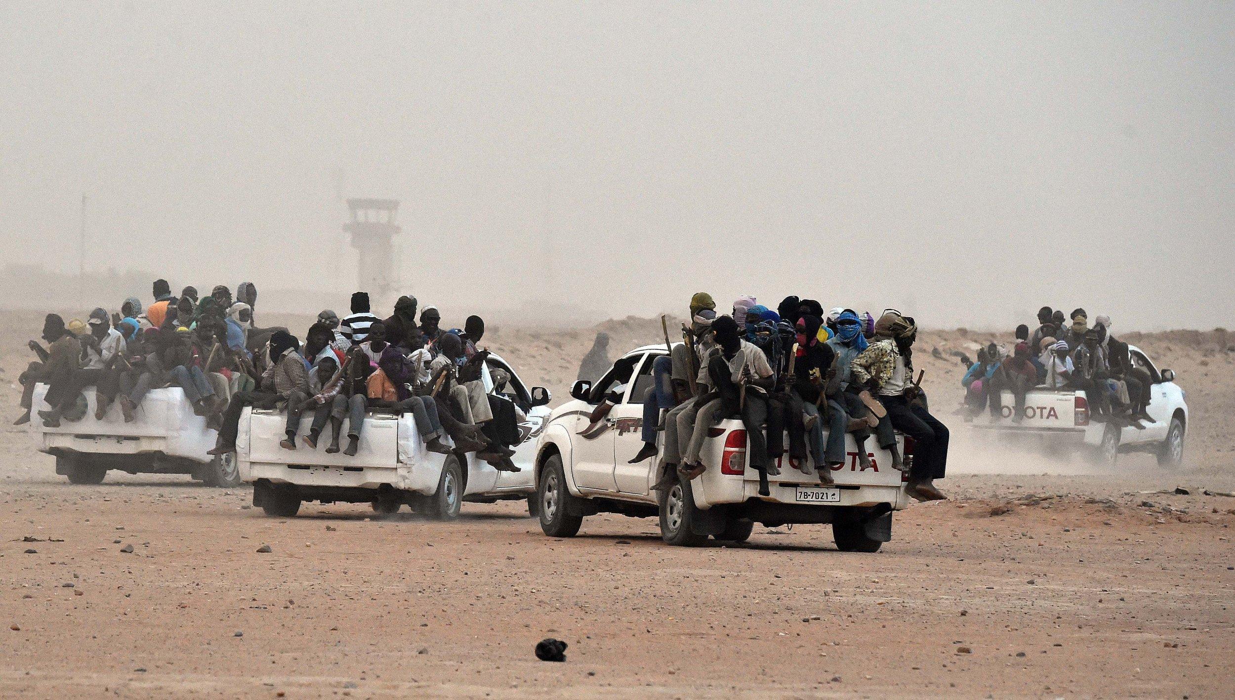 Agadez migrants en route to Libya