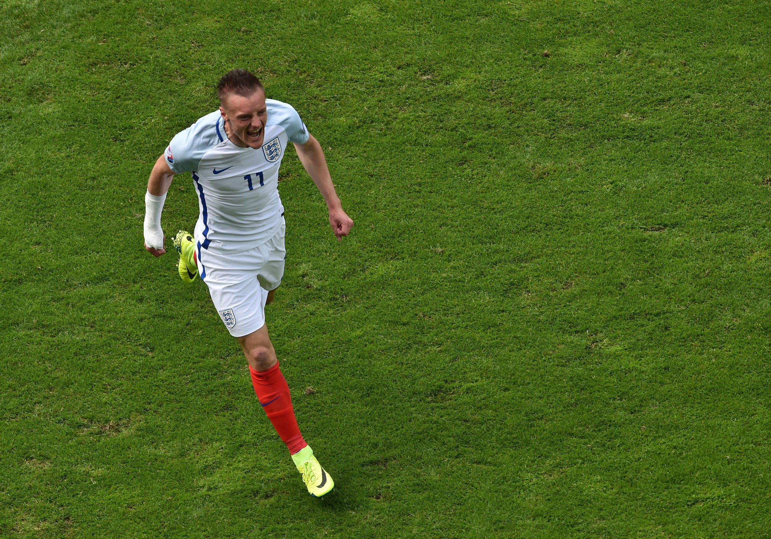 Leicester and England striker Jamie Vardy