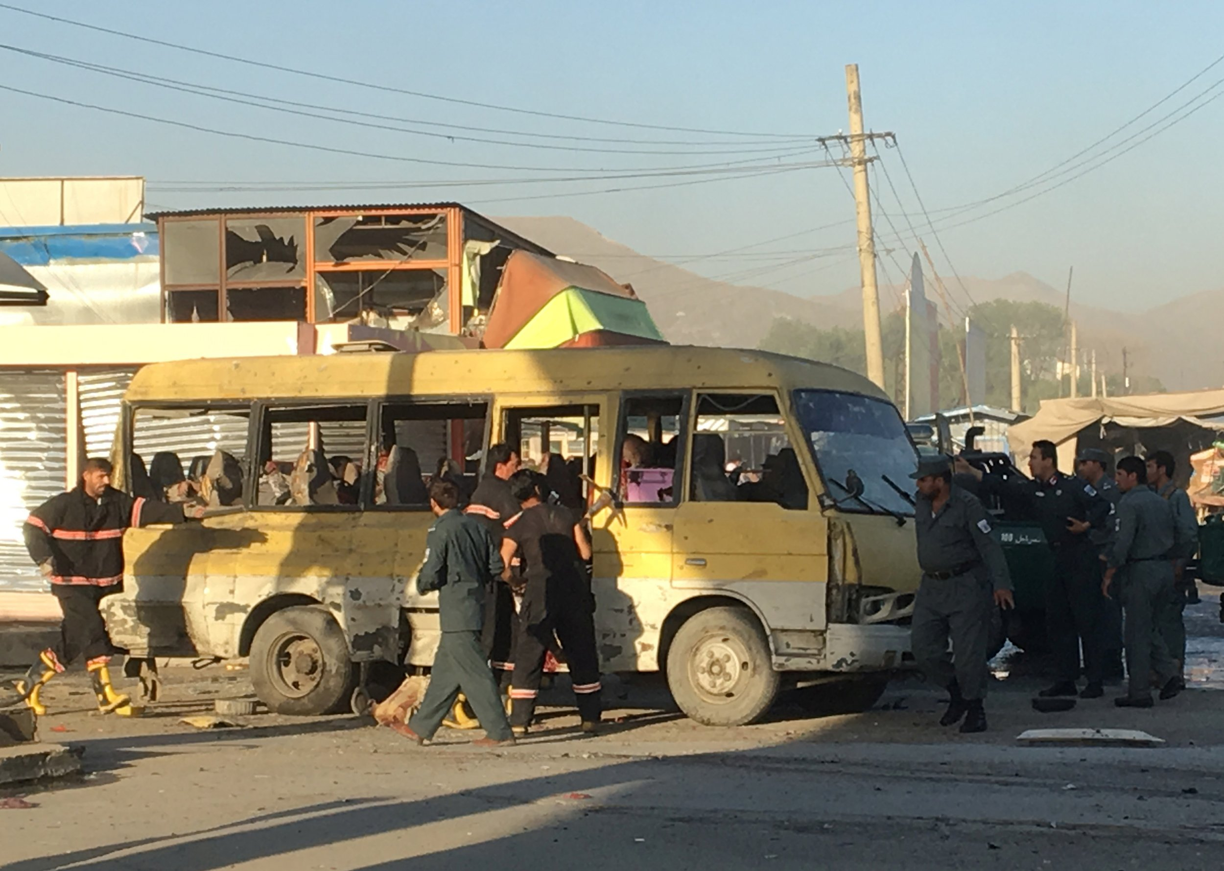 Kabul minibus blast