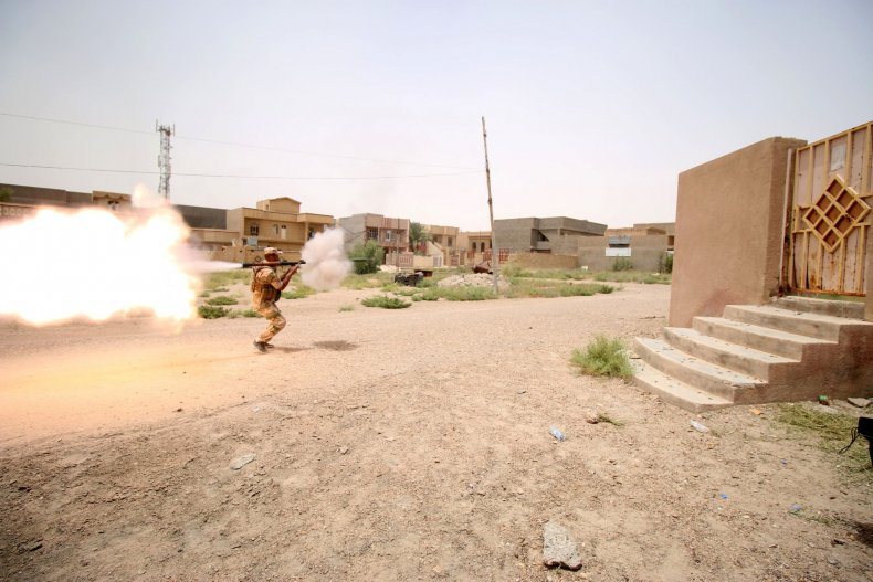 Iraqi forces in the battle for Fallujah