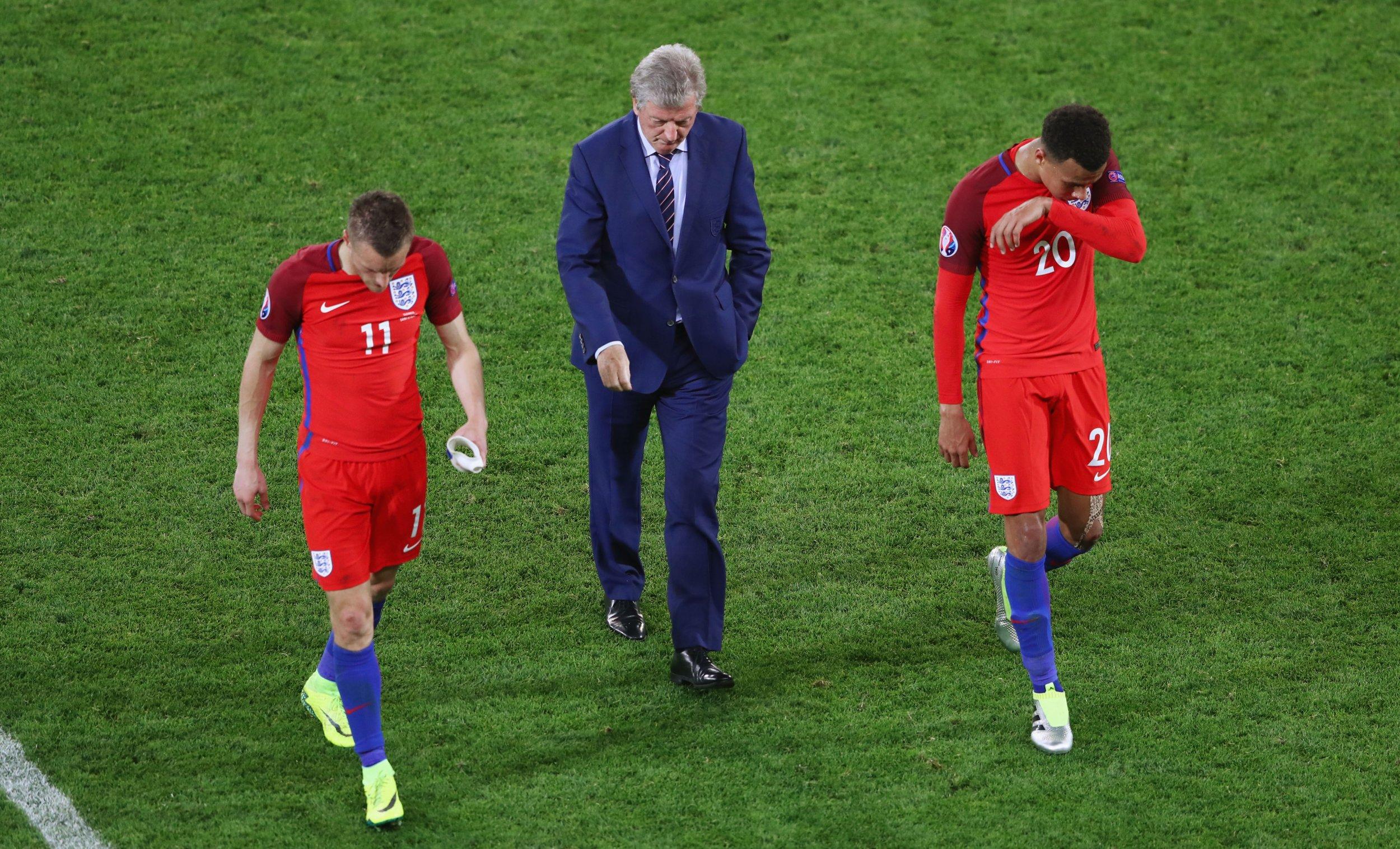 Jamie Vardy, Roy Hodgson and Dele Alli
