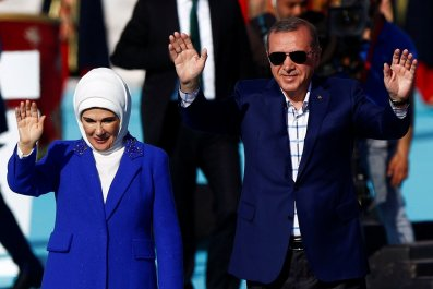 Erdogan and wife