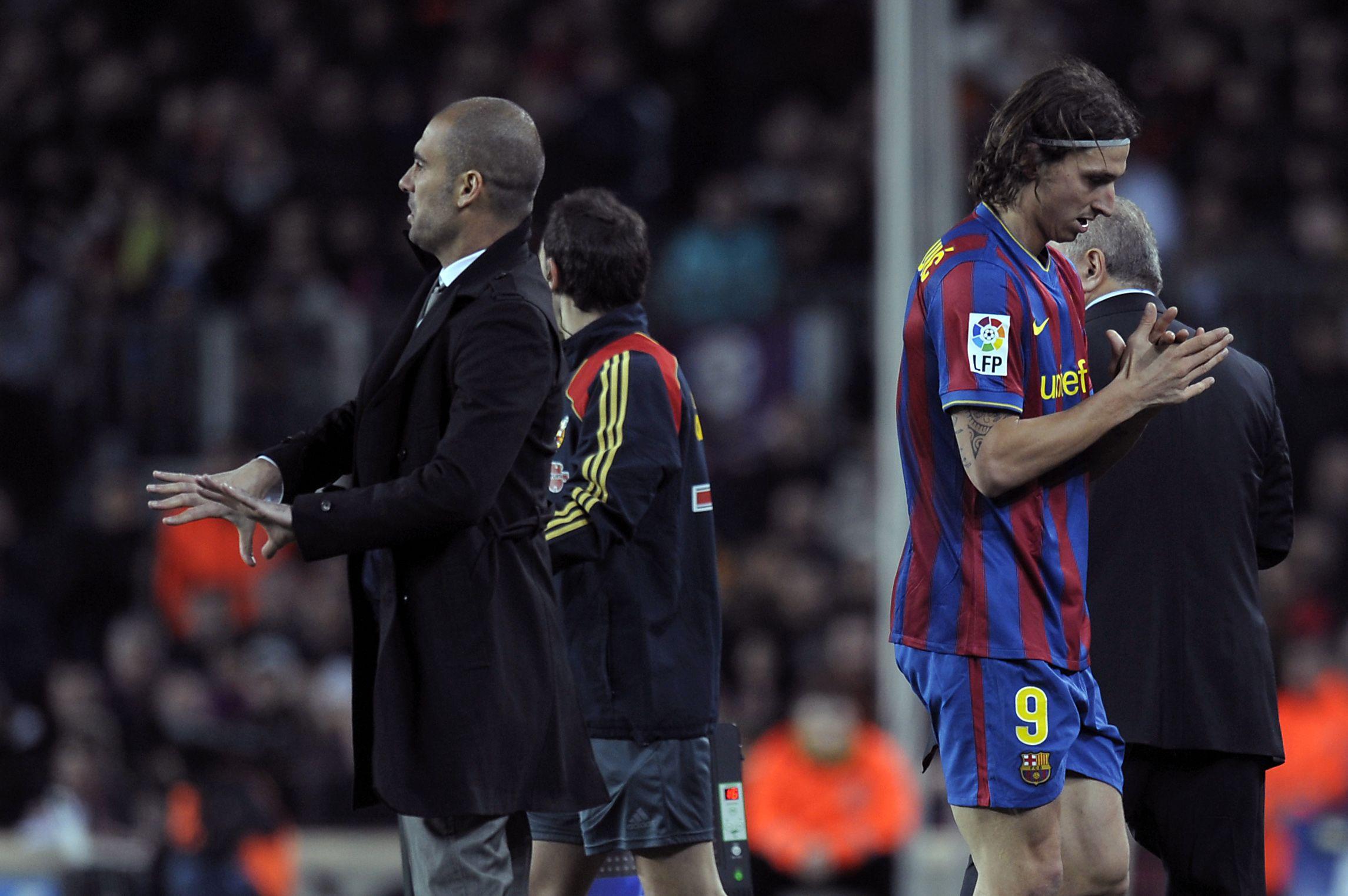 Guardiola and Ibrahimovic