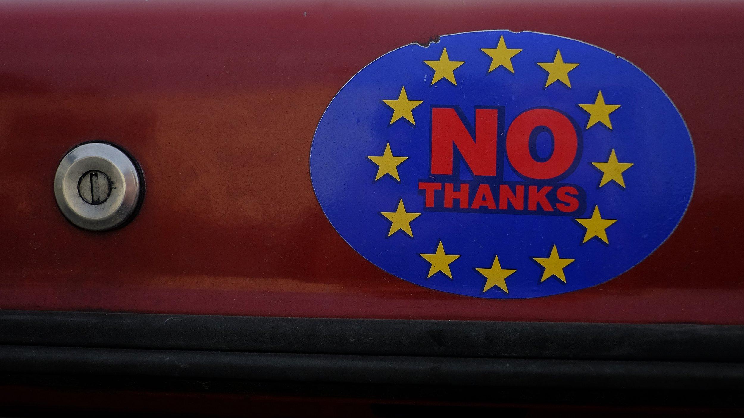 Brexit Car Sticker