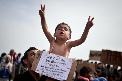 Boy at Chios refugee camp
