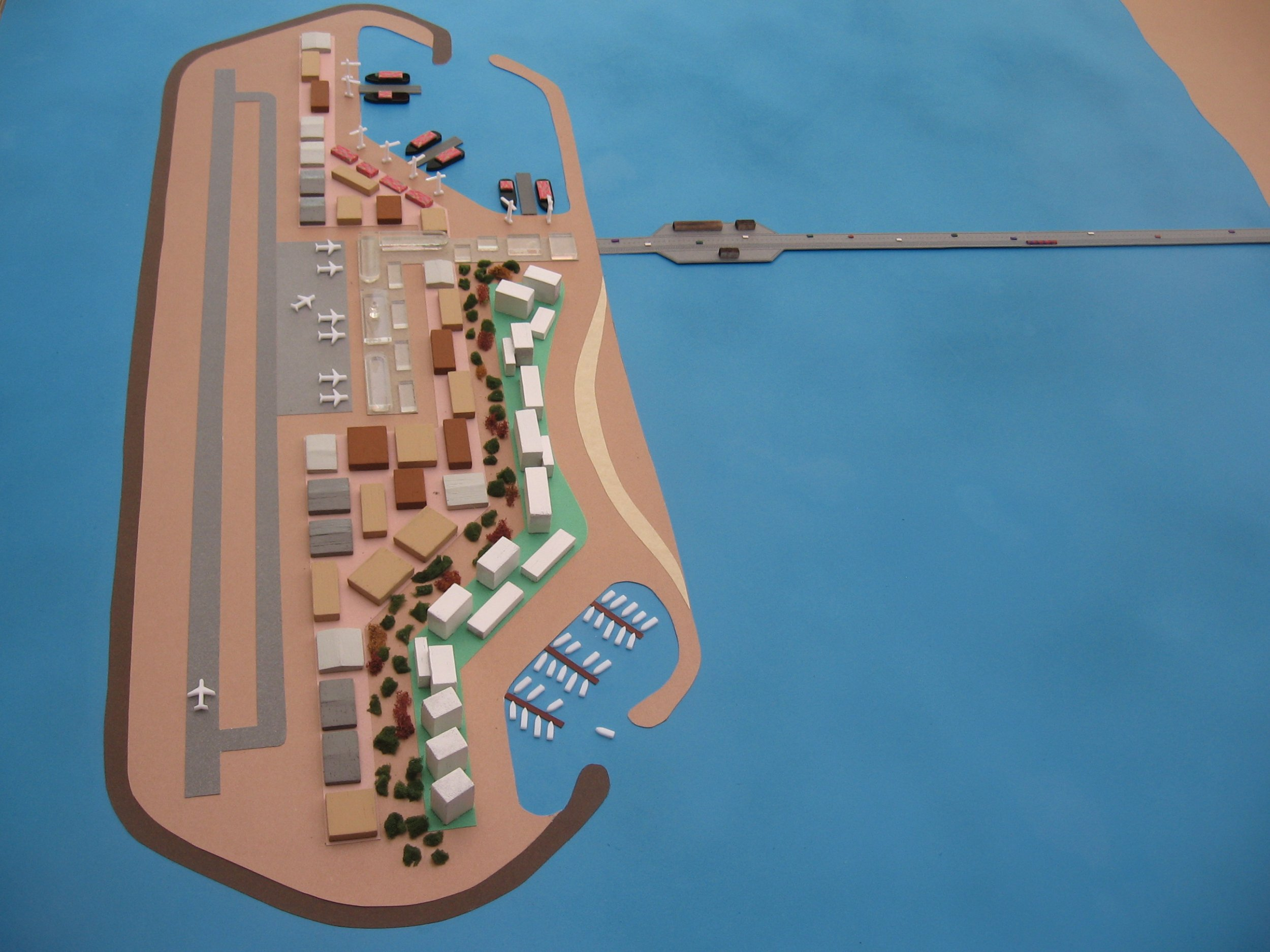 Artificial island off of Gaza Strip