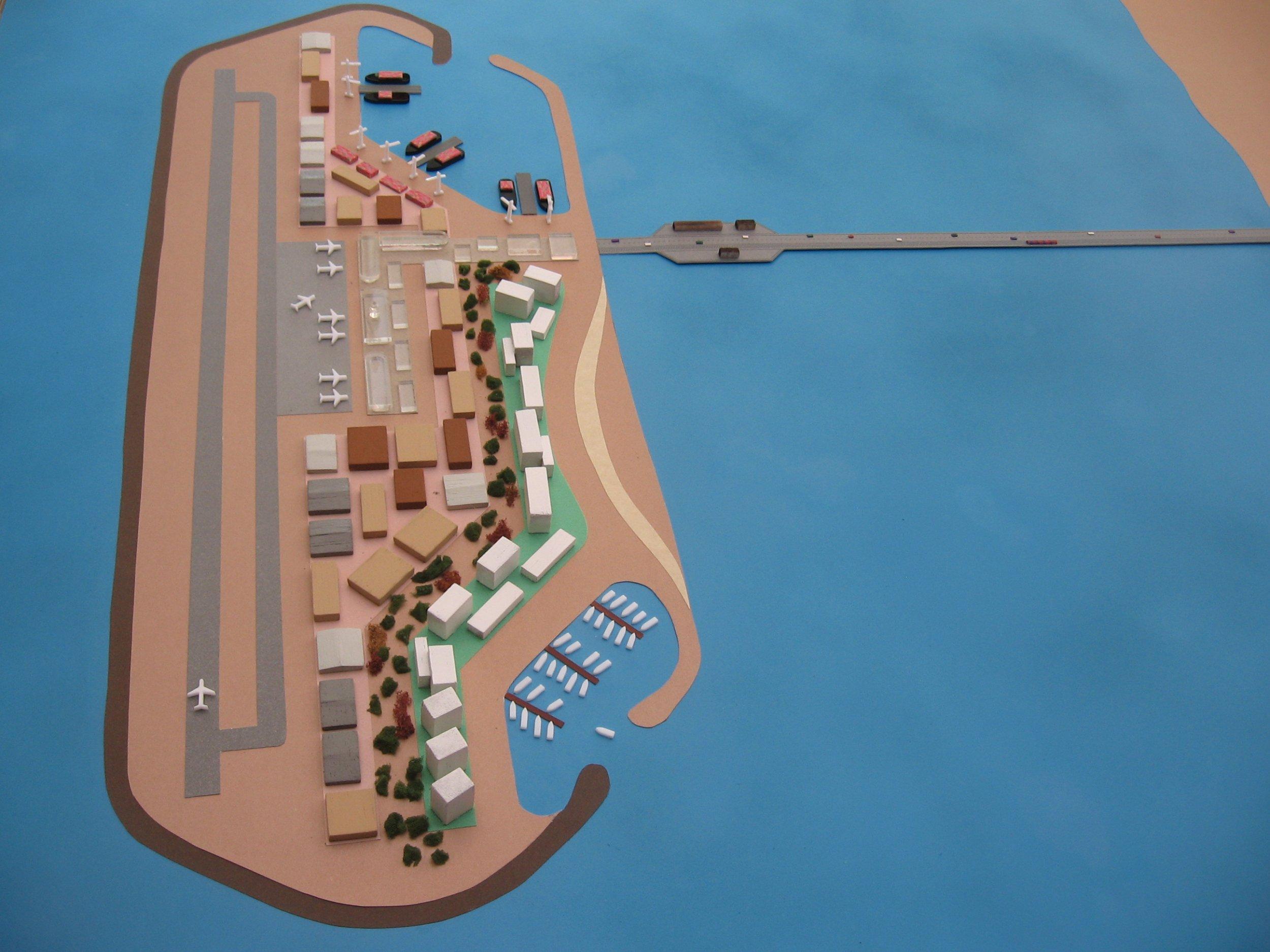 Artificial island off of Gaza Strip