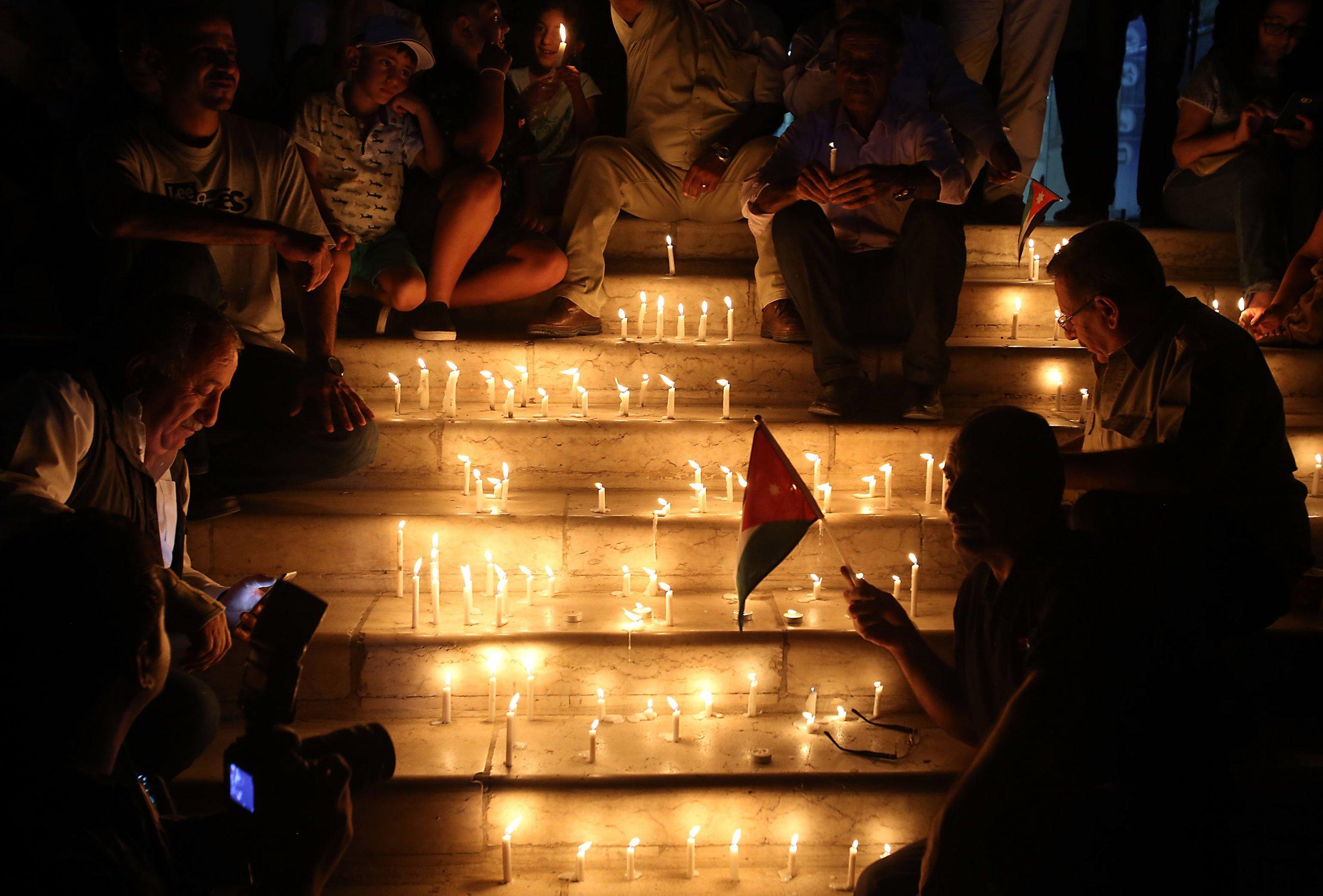 Jordan candlelit vigil