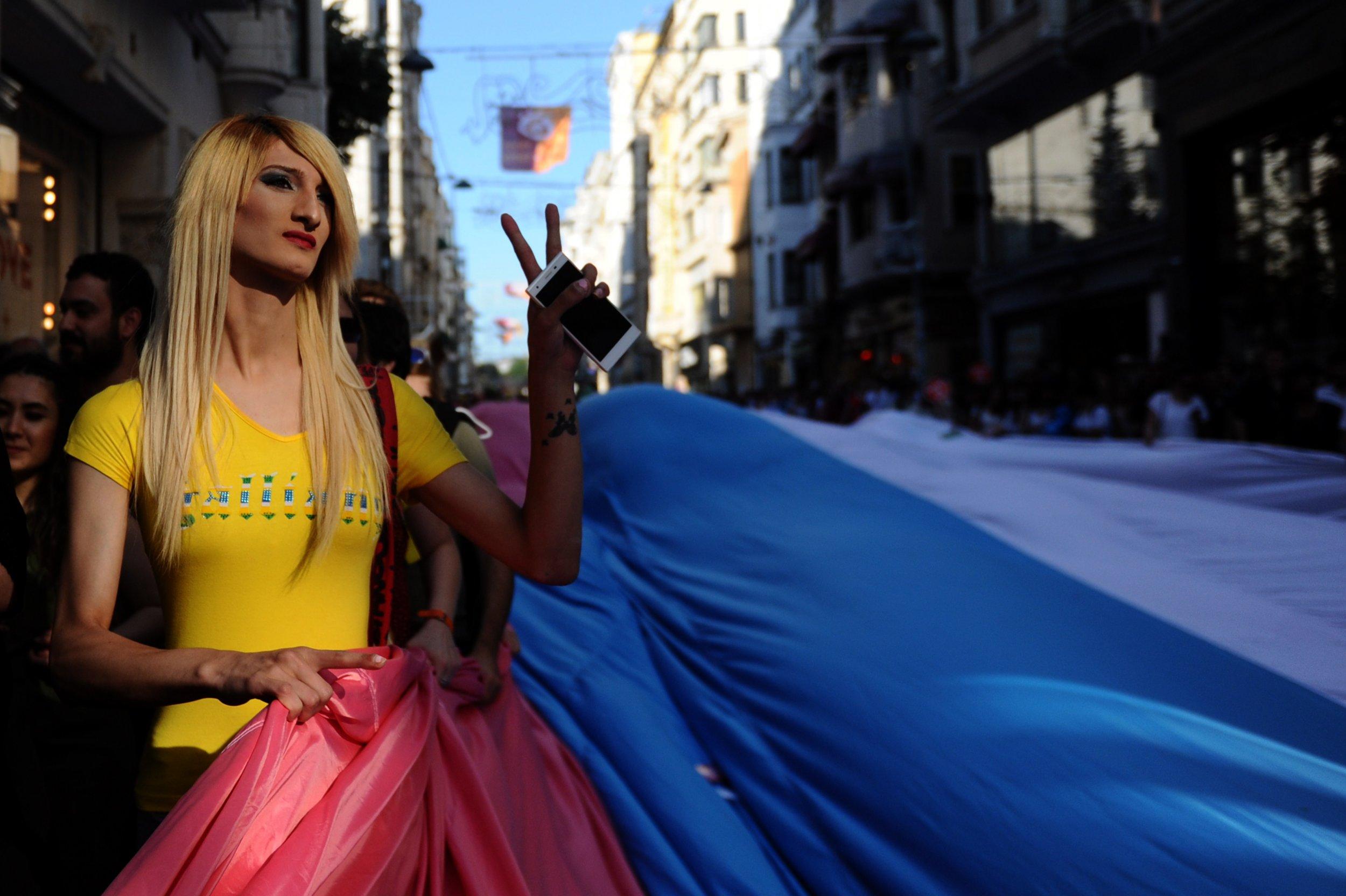 Transgender pride Istanbul, Turkey