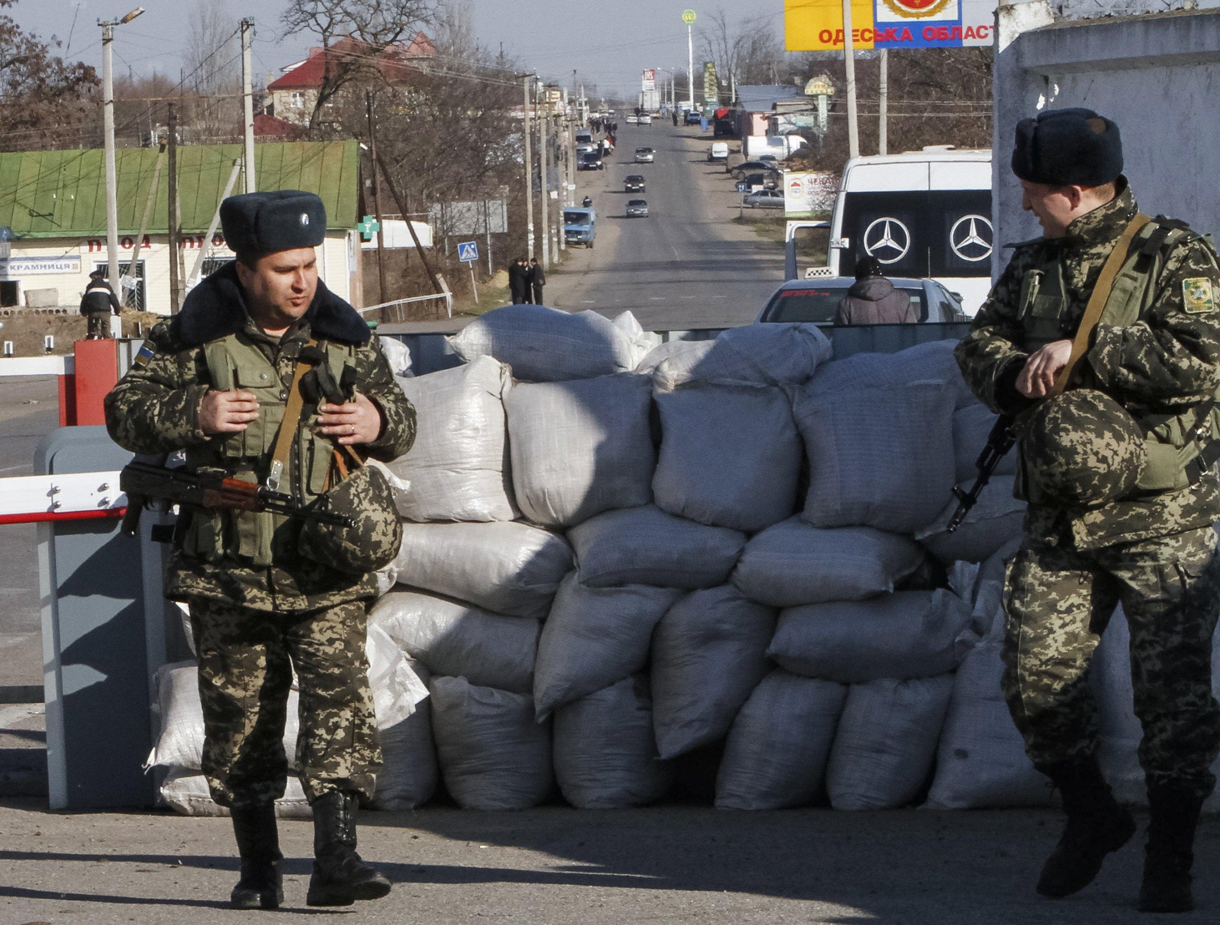 Ukrainian border guards