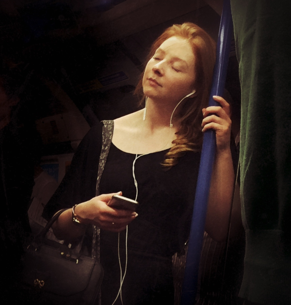 woman on tube