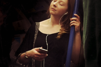 woman on tube