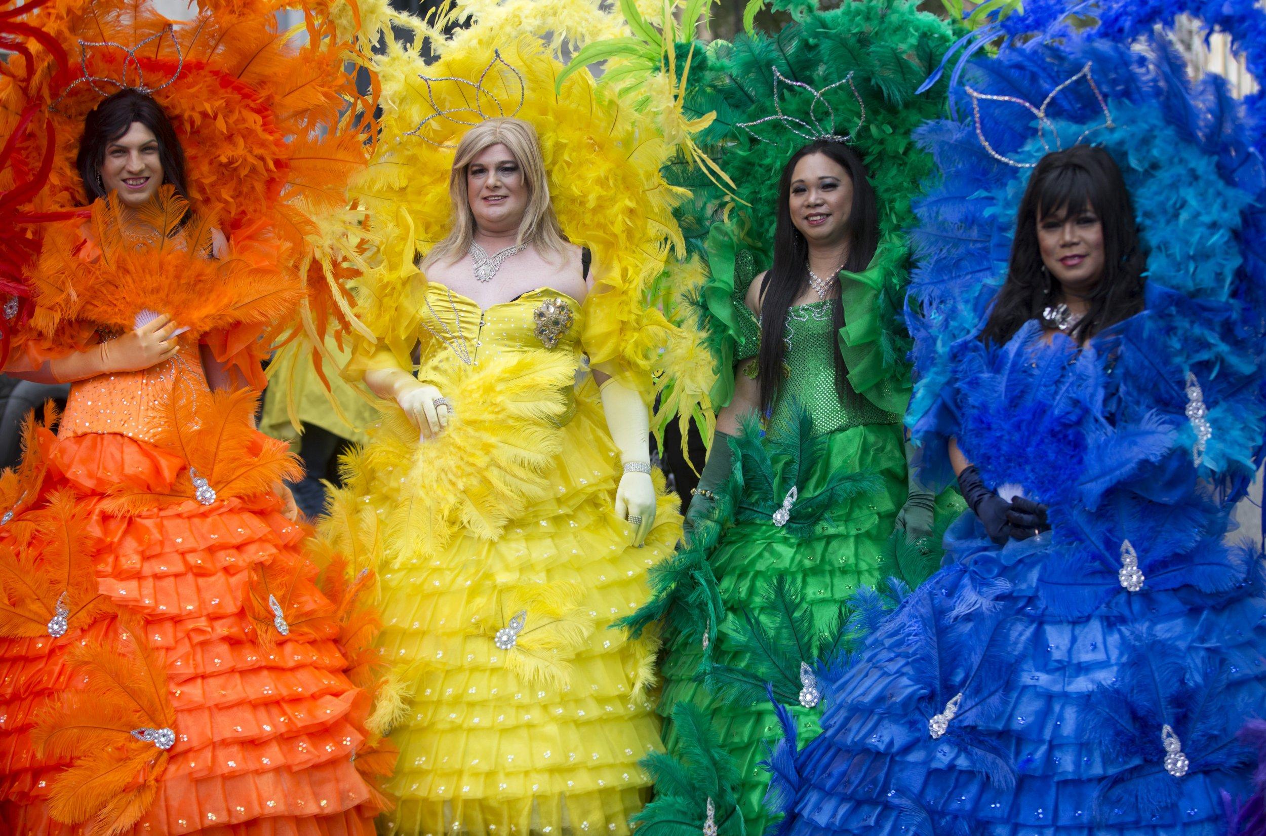 LGBT pride activists