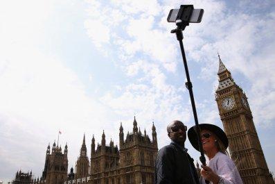 Selfie in London - Brexit